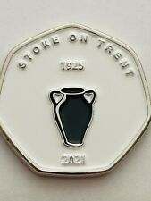 TGBCH Cities Of The UK Series City Of Stoke On Trent Famous For Pottery 50p Shap