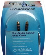 Stellar Labs 24-8974 12ft Digital Audio Coax SPDIF Interconnect Cable Pro Series