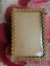 ANTIQUE VICTORIAN FRENCH GOLD GILT GRECIAN LEAF DRESSER MINIATURE PHOTO FRAME