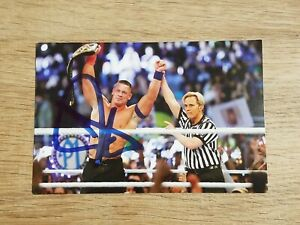 John Cena Autographed OFFICIAL WWE 2K18 SIGNED 6x4 Glossy Photo Print Autograph