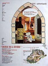 PUBLICITE CHATEAU DE LA RIVIERE VIN CUVEE DE FRONSAC CAVE BORDEAUX DE 1966 AD