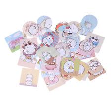 46X/Box Molang Rabbit Mini Paper Stickers DIY Diary Scrapbooking Seal Stickers