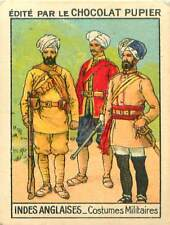 Costumes Uniformes Militaires Soldats Cipayes INDES ANGLAISE IMAGE CARD 1938