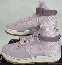 New Womens 10.5 NIKE Air Force 1 Hi PRM Bleached Lilac Shoes $130 654440-500