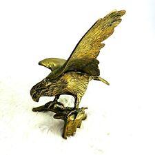 Vintage Large Brass Eagle on Branch Figurine Statue Decoration 18 in Landing