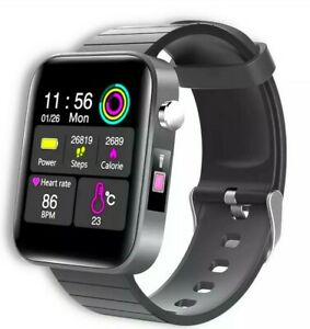 Touch Smart Watch Phone Mate Heart Rate For Android LG Body Temperature Monitor