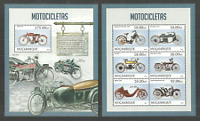 MOZAMBIQUE 2013 MOTORCYCLES TRANSPORT SET OF 2 M/SHEETS MNH
