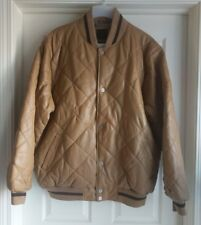 SEAN JOHN Mens Brown Leather Jacket Coat Insulated, Size XL, NWT NEW, Ret $399
