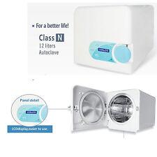 12L Dental Autoclave Sterilizer Medical Vacuum Steam Sterilization Class N White
