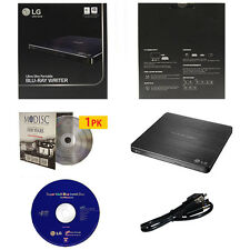 LG 6X Slim Blu-ray CD DVD External Drive Burner+1pk Mdisc DVD+Software+USB Cable
