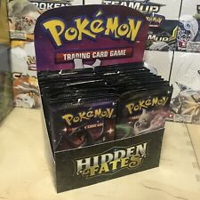 36 x Pokemon Hidden Fates Booster Packs - Booster Box Worth Tcg Shiny SV