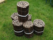 "Willow lawn flower bed garden edging Fencing - 8"" High x 6 metres long 20ft"