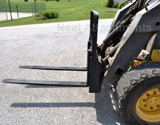"HD Skid Steer Pallet Forks  1.1/4"" x 4"" x 42"" 4000 lbs For Bobcat"