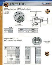 "16C Bison ""Set Tru"" Lathe Collet Chuck + Adapter Plate"