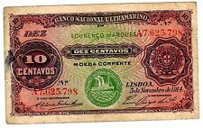 Mozambique PORTUGAL ULTRAMARINO Billet 10 CENT 1914 P53