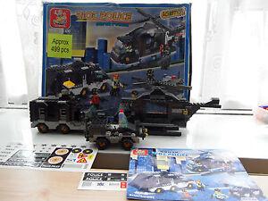 SLUBAN - RIOT POLICE BUILDING BRICKS- (M38 - B2100) 499 Pieces