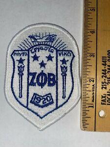 "Zeta Phi Beta 4"" Embroidered Shield Crest Patch VINTAGE RARE FREE SHIP"