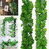 2M Ivy Leaf Garland Green Plant Plastic Vine Foliage Yard Home Garden Decor ATUS