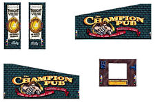 Williams Champion Pub Pinball Machine Cabinet Decals - NEXT GEN - LICENSED