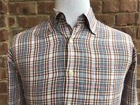 PETER MILLAR Men's Plaid Long Sleeve Button Front Casual Shirt Size Large