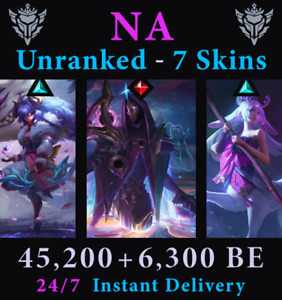LoL NA Account Unranked Cosmic Jhin Blossom Kindred Lillia Acc League of Legends