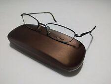 Nautica Titanium N7818 Eyeglasses New Silver Full Rim 51[]17-140