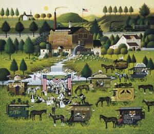 Charles Wysocki Rally At Dandelion Mill Print ARTIST PROOF With COA