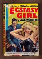 Ecstasy Girl Jack Woodford vintage 1948 1st Ed. GGA sleaze good reading copy
