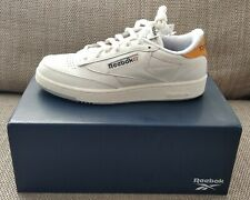 Reebok Club C Classics by size? 20th Anniversary, White/Orange, UK 7.5 EU 41