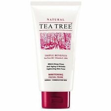 Tea Tree Natural Whitening Facial Foam Cleanser Face Wash 140ml