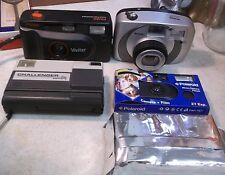 Lot of 5 Vintage Cameras Vivitar FS:120 Argus M450 Challenger Disc & 2 Polaroids