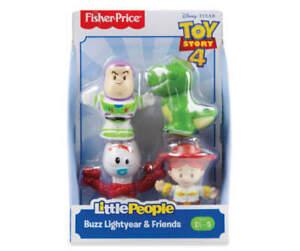 Little People Toy Story 4 Buzz Lightyear & Friends 4-Figure Set