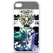 Coque housse étui tpu gel motif tigre swag Iphone 4 / 4S