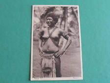 Manus Island Native Girl original vintage Ethnic Postcard Papua New Guinea