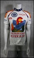 CUSTOM VOLER COLORADO EAGLE RIVER RIDE CYCLING JERSEY RACE RAGLAN WOMENS M