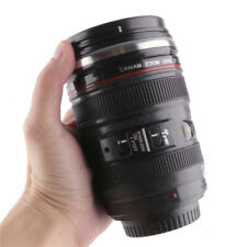 Creative SLR Lens Water Glass Camera Cup Stainless Steel Coffee Mug Black Cup