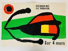 DERRIERE LE MIROIR 107-108-109 1959 Sur 4 Murs MIRO Giacometti Tal-Coat Lithos