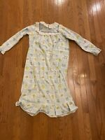Vintage Carter's Girls Size 14 Floral Nightgown With Lace Front