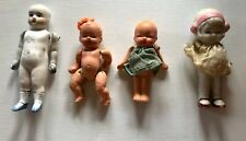 Vintage Occupied Japan Dolls Bisque Jointed & Celluloid Lot Of 5