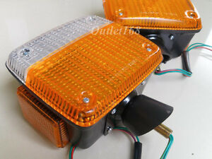 Pair TOYOTA Land Cruiser FJ40 FJ45 HJ45 HJ47 BJ40 Corner Lamp Turnlight Signal