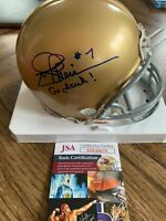 JOE THEISMANN Redskins Autographed Notre Dame Mini Helmet Go Irish!  JSA COA