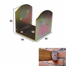 Staffa supporto acciaio zincato tropicaliz x travi legno inclinate ad U 80x80 mm