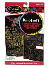 Melissa and Doug Scratch Art Color Reveal Pictures - Dinosaurs 5957