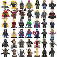 Marvel Avengers Superheroes Thanos Iron Man Hulk Mini Figures Building Block Toy