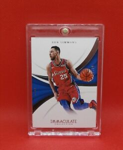 2017-18 NBA Immaculate Card - Ben Simmons 53/75