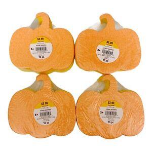 60pc Creatology Foam Craft Shapes Pumpkins Fall Halloween Glitter Orange Yellow