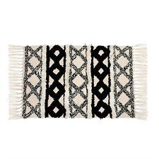 Sass & Belle Scandi Boho Rug - 50 x 70 cm - Black & White