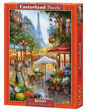 Puzzle 1000 pieces fleuriste au printemps a Paris 68x47cm de marque Castorland