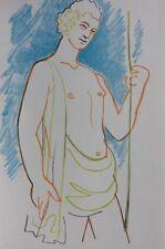 COCTEAU Jean :  Apollon  - LITHOGRAPHIE Originale #1967 #MOURLOT