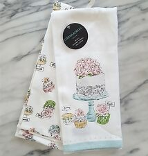 New Set 2 Cynthia Rowley WEDDING CAKE Kitchen Tea Towels CUPCAKE Bride Groom